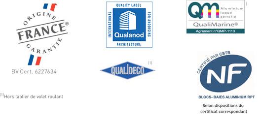 bloc_baie_demi-linteau_optibloc_kline_aluminium_certifications